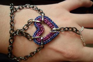 Purple Slave Bracelet by Chryssta