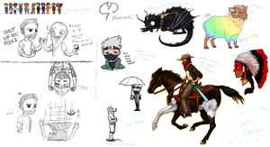 mindcrack fan art dump by pipamir