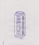 Action Energy Can by LetzRevolsky