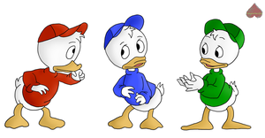 Disney Collab - Huey Dewey Louie by Vampire-Sacrifice