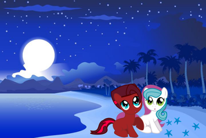 Starfishes On The Beach by Celestia-In-Love