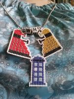 Dalek and TARDIS linked necklace by Sew-Madd