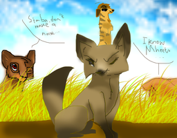 Simba plays with Mheetu, Bhati, and Tesma by Asoq