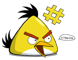 Angry Yellow Bird coloured by RiverKpocc