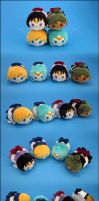 Stacking Plush: Mini Outer Scouts by Serenity-Sama