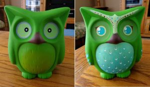 Owl Bank Repaint by stefania-zee