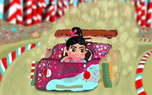 Vanellope Von Schweetz Racing (Wreck It Ralph) by DanTherrien101