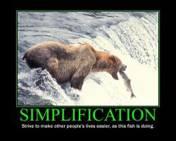 Simplification Motivational Poster by QuantumInnovator