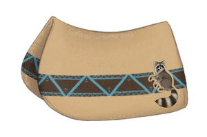 Teepee Trials: Raccoon Saddle Pad by Tattered-Dreams
