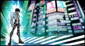 background: Neo Tokyo by jonsibal