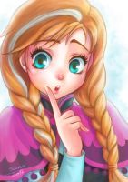 Anna from Frozen by orangedk