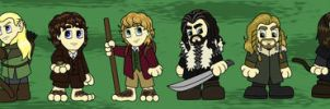 LOTR and Hobbit Chibis by cardinalbiggles