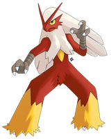 Pokemon: Shiny Blaziken by Kidel