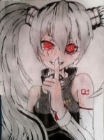 My Hatsune miku Ghoul version. by sword40