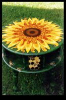 Sunflower Table by ReincarnationsPF