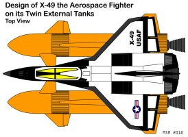 X-49 TETs Top View Design by RedSpider2008