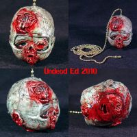 Zombie Head pull chai for a c by Undead-Art