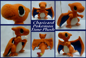 Pokemon Charizard Time Plush by MegasArtsAndCrafts