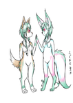 Corgi Or Fennec - with colors by Inu0Kawaii