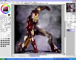 Ironman 3D digital painting by julius17