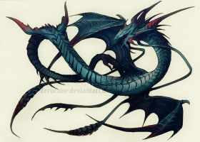 Final Fantasy 14- Leviathan coloured by Zerucune