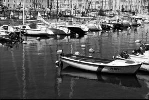 Piran harbor by WitchFromGondor