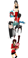 .:COLLAB:DONE:.A touch of Black and Red by doris4u