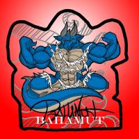 Bahamut Badge by chaos61988