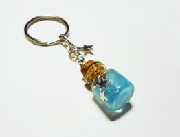 Glow in the Dark bottle - keychain by FrozenNote