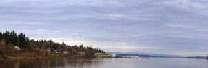 Puget Sound From Olympia by MAGMADIV3R