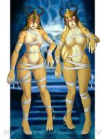 COMMISSION - Mumm-ra's Cheetaras Mummies by IDarkShadowI