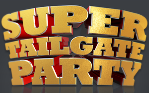 Super Tailgate Party Isolated 3D Text Objects by loswl
