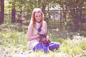 Doggy and me by lauren-moyer