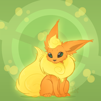Flareon For My Sis by Pandas-R-Us