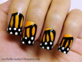 cutepolish inspired Butterfly Nail Art Design by everbella