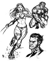 X-Men sketches by RamArtwork