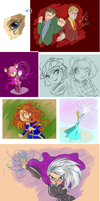 Sketches December 9th 2013 by Welcoming-Meg
