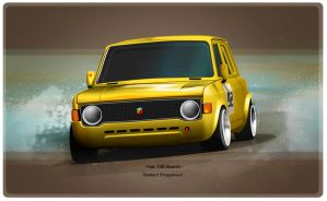 Fiat 128 Abarth by RibaDesign