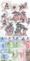 TF2-Avatar fighting sketches by MadJesters1