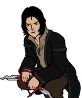 Aalex with knives by Blenia