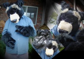 Asiatic Black Bear suit by flixdragoness
