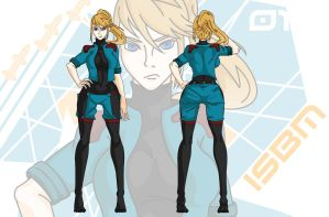 Samus Aran (in uniform) by ISBM