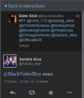 OMFG SANRDA ALVA mentioned me with X's and O's by DJ-Kitt-Morgue-13