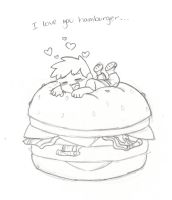 Chris and burgershipping by TeslaMarcia