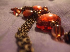 red necklace by Rashley