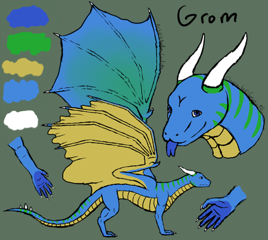 Grom reference sheet by Godith Shadowind by grompe