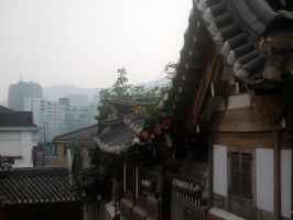 Rooftops in Bukchon by headraline