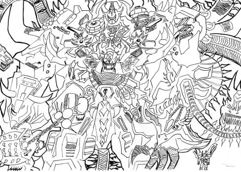 The Ultimate transformer - Dinoking by TwilightKarnor