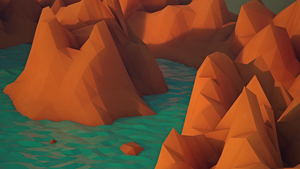 Low poly landscape | Glowing mountains by Pieter12