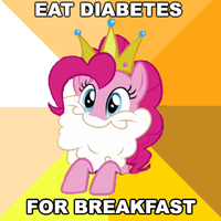 Pinkie Wolf meme: Diabetes For Breakfast by shadesmaclean